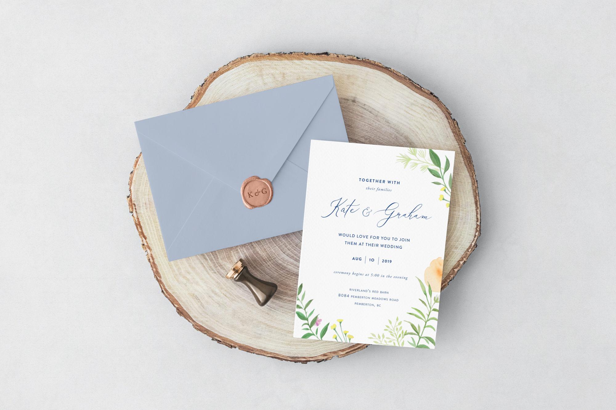 Free Invitation Card & Envelope
